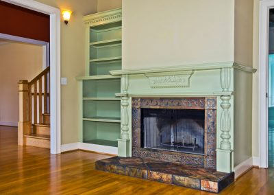 green-fireplace-with-stairs